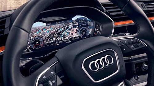 Interieur scherm digitaal infotainment Audi Q3