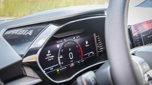 Virtual cockpit nieuwe skoda fabia interieur