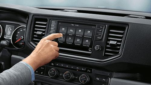 Volkswagen Crafter infotainment interieur