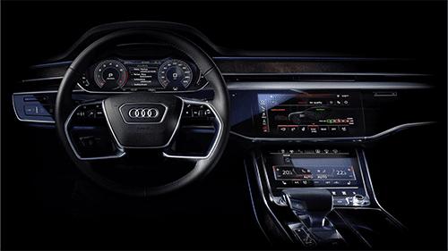 interieur Audi A8 scherm