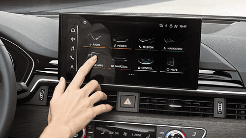 Audi A5 cabriolet infotainment scherm