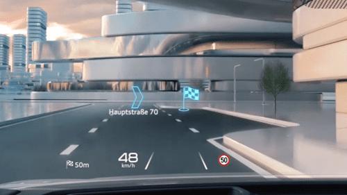 Head up display Audi Q4 sportback e-tron