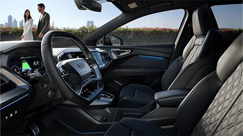 Ruimte interieur Audi Q4 Sportback e-tron