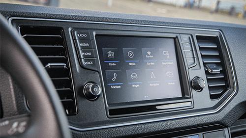 VW e-crafter navigatie scherm